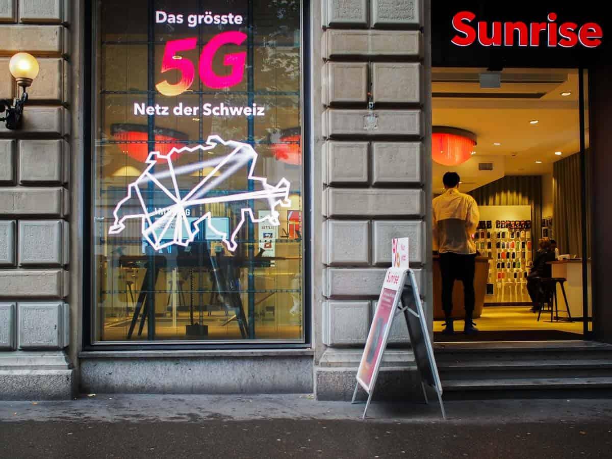 Sunrise, Bahnhofstrasse Zürich